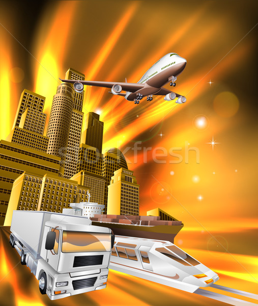 City Logistics Delivery Graphic Stock photo © Krisdog