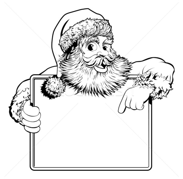 Christmas Santa Claus Sign Stock photo © Krisdog