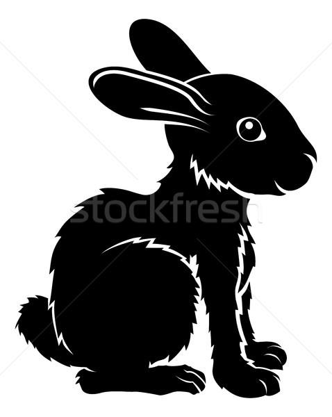 Stock photo: Stylised rabbit illustration