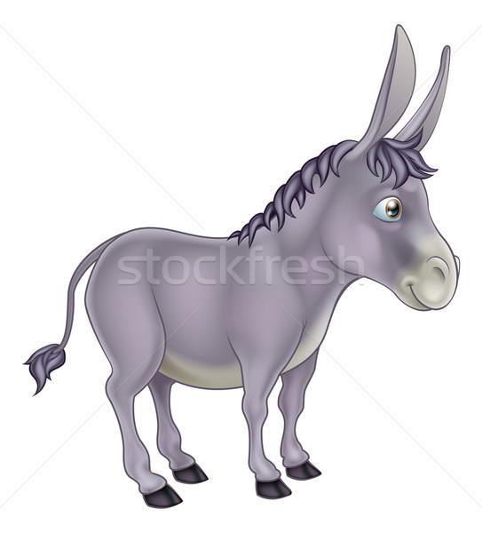 Donkey Cartoon Stock photo © Krisdog