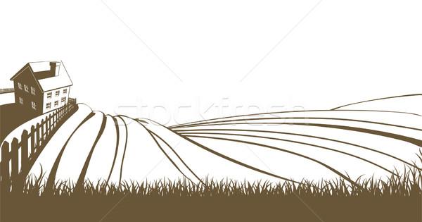 Farm and rolling hills Stock photo © Krisdog