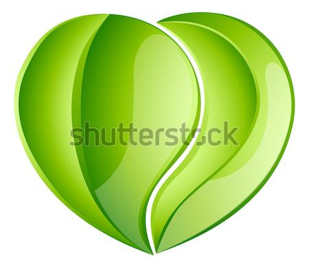 Environmental charity love leaf heart Stock photo © Krisdog
