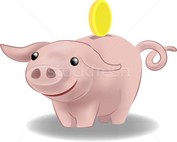 Foto stock: Piggy · bank · ilustração · moeda · dinheiro · segurança · caixa