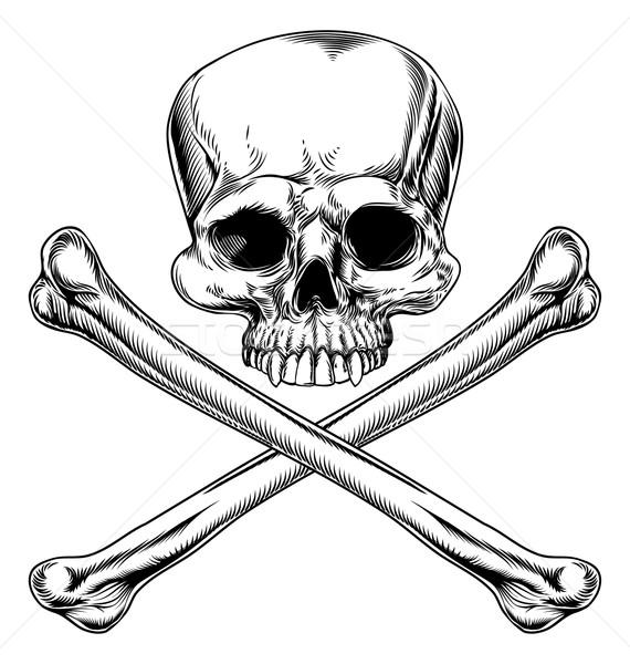 Skull and crossbones Stock photo © Krisdog