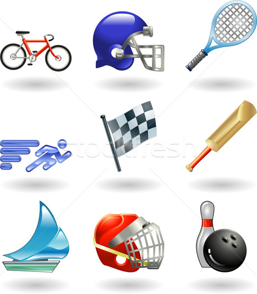Brillante deportes serie establecer color Foto stock © Krisdog