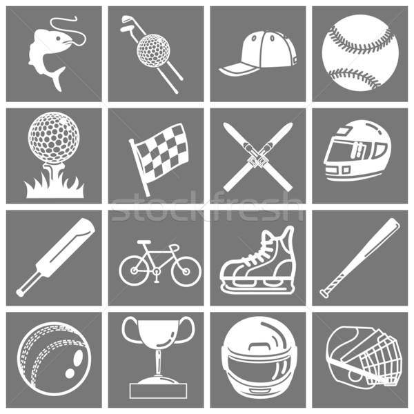 sports icon set Stock photo © Krisdog