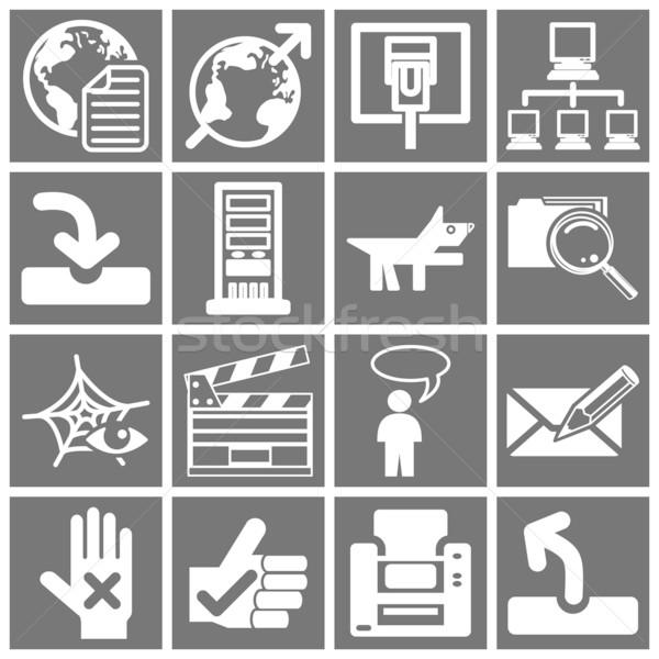 Stok fotoğraf: Internet · web · simgesi · ayarlamak · web · simgeleri · dünya · çalışmak
