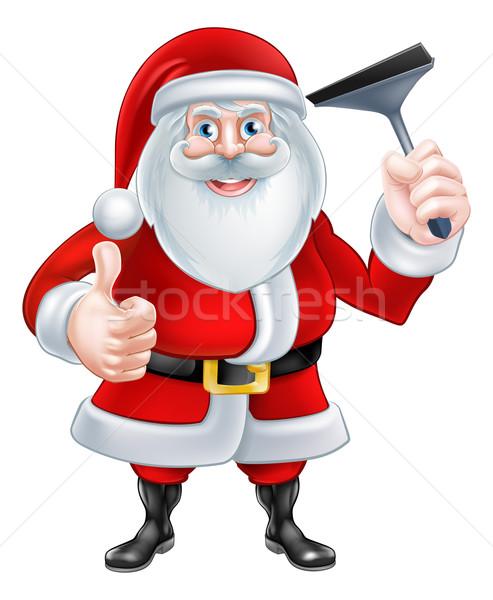 Cartoon christmas illustratie kerstman Stockfoto © Krisdog