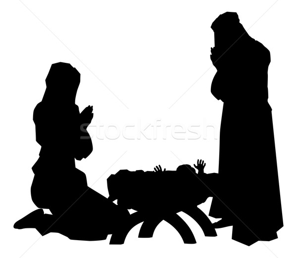 Nativity Scene Silhouettes Stock photo © Krisdog