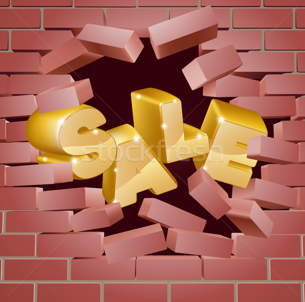 Sale Breaking Down Wall Stock photo © Krisdog