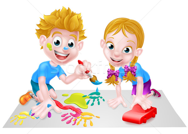 6dad2c8d9768f1 Children Playing vector illustration © Christos Georghiou (Krisdog ...