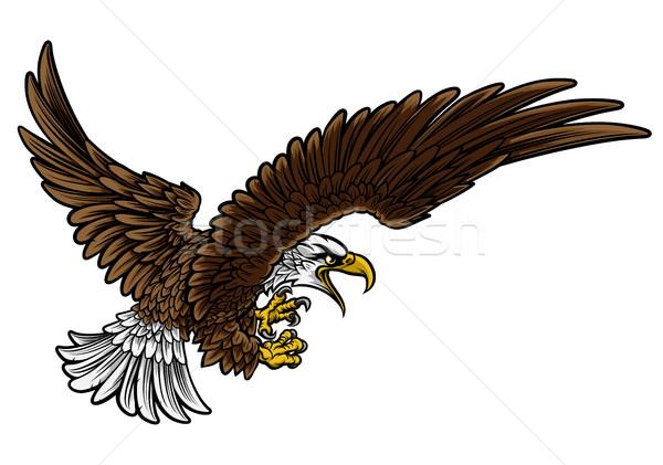 Eagle Swooping Stock photo © Krisdog