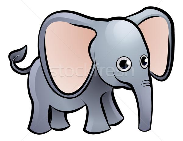 象 サファリ動物 図書 子 楽しい ストックフォト © Krisdog