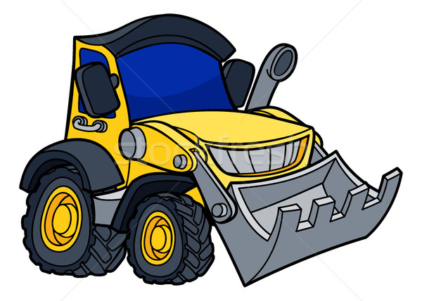 Cartoon Bulldozer Digger Stock photo © Krisdog