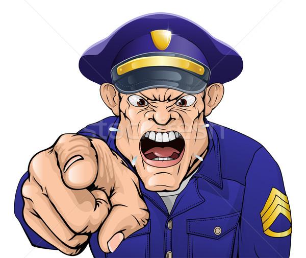 Angry policeman Stock photo © Krisdog