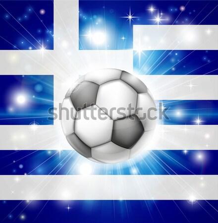Greek soccer heart flag Stock photo © Krisdog