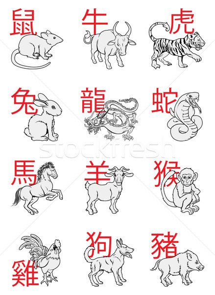 Stock photo: Chinese New Year Zodiac Signs