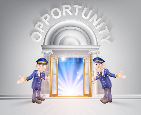 Porta opportunità porta aperta luce in streaming muro Foto d'archivio © Krisdog