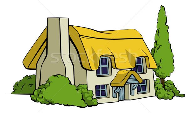 Country cottage or farm house Stock photo © Krisdog