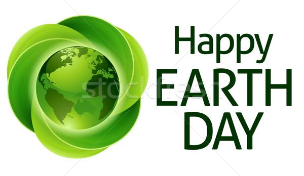 Сток-фото: счастливым · зеленые · листья · мира · дизайна · лист