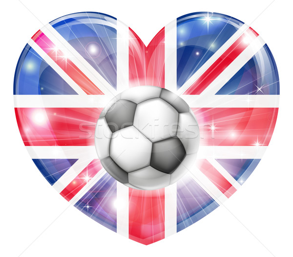 Union jack soccer heart flag Stock photo © Krisdog