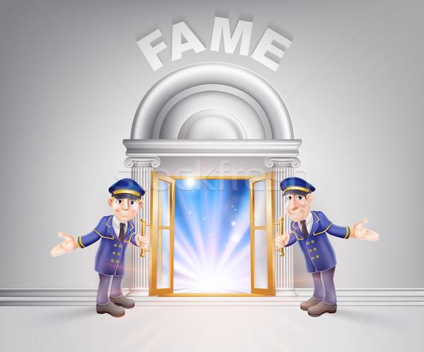 Door to Fame and Doormen Stock photo © Krisdog