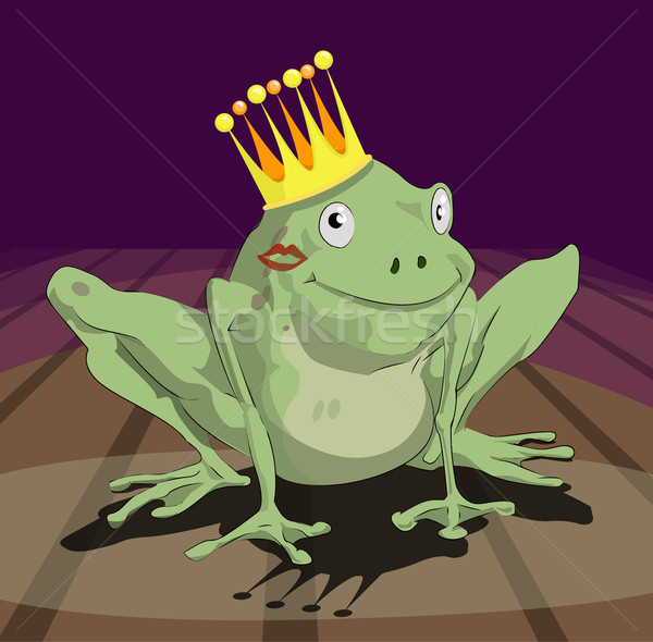 frog prince illustration Stock photo © Krisdog