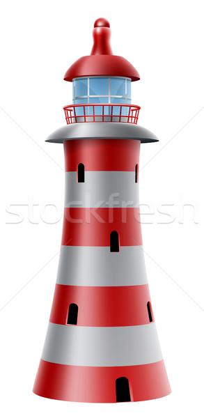 Lighthouse illustration Stock photo © Krisdog