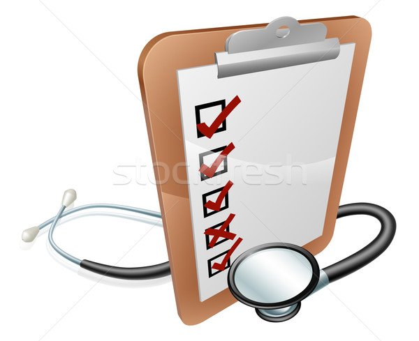 Clip Board and Stethoscope  Stock photo © Krisdog