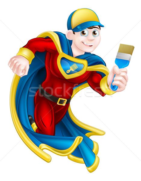 Painter Decortator Super Hero Stock photo © Krisdog