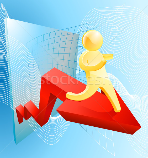 Soaring profit concept Stock photo © Krisdog