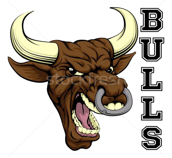 Bulls Sports Mascot Stock photo © Krisdog