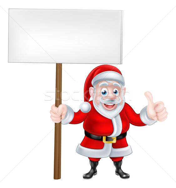 Thumbs Up Santa Sign Stock photo © Krisdog