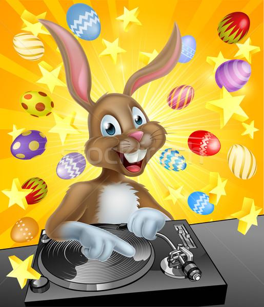 Easter Bunny DJ Stock photo © Krisdog