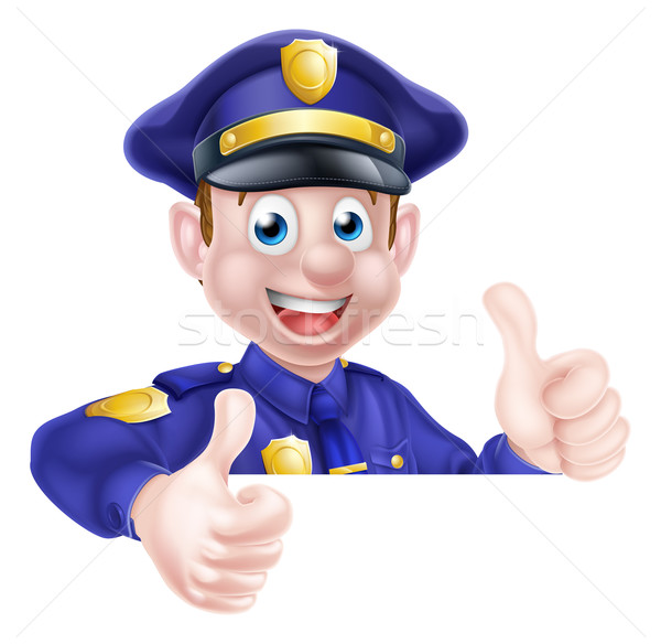 Policeman Double Thumbs Up Stock photo © Krisdog