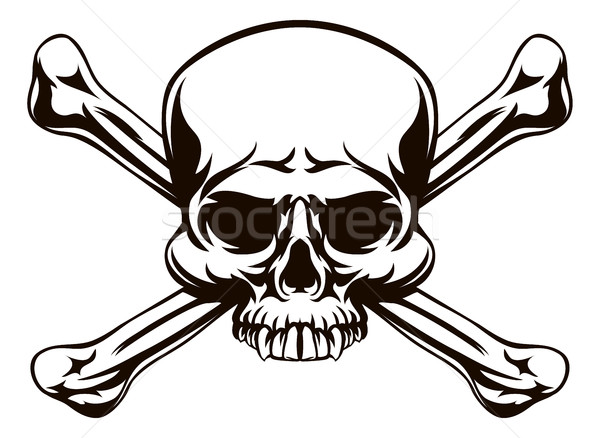 Stock photo: Skull and Cross Bones Sign