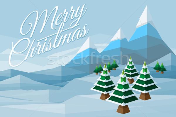 Merry Christmas Winter Background Scene Stock photo © Krisdog