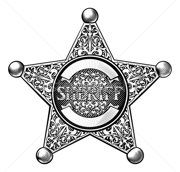 Sheriff Star Badge Stock photo © Krisdog