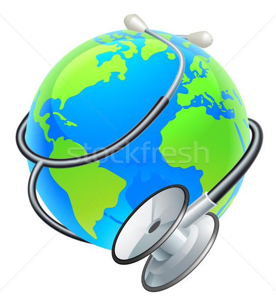 Stethoscope World Health Day Earth Globe Concept Stock photo © Krisdog
