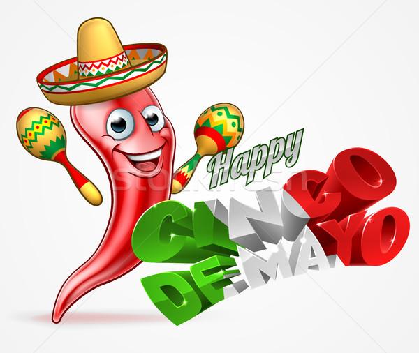 Cinco De Mayo Chilli Pepper Design Stock photo © Krisdog