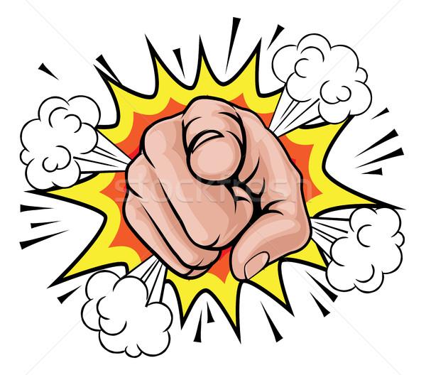 Pop art mutat rajz kéz illusztráció képregény Stock fotó © Krisdog