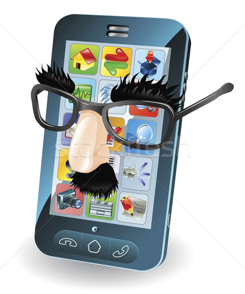 Mobile phone theft concept Stock photo © Krisdog