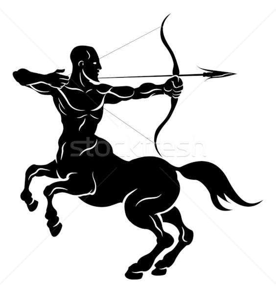 Stock photo: Stylised centaur archer illustration