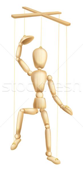 Fából készült báb illusztráció marionett alkat férfi Stock fotó © Krisdog