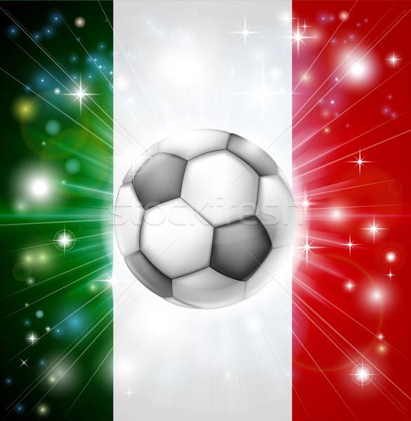 Italy soccer flag Stock photo © Krisdog