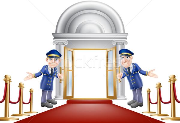 Red carpet entrance Stock photo © Krisdog