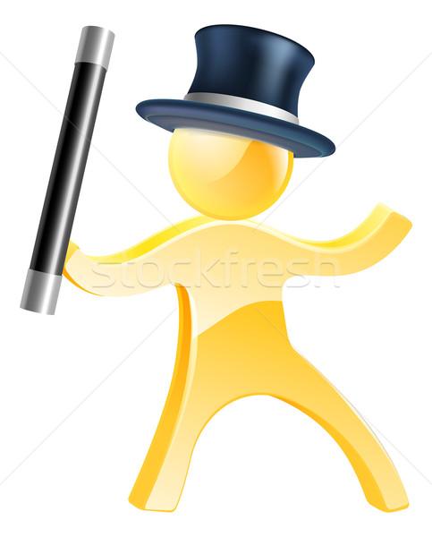 Mascot with wand and top hat Stock photo © Krisdog