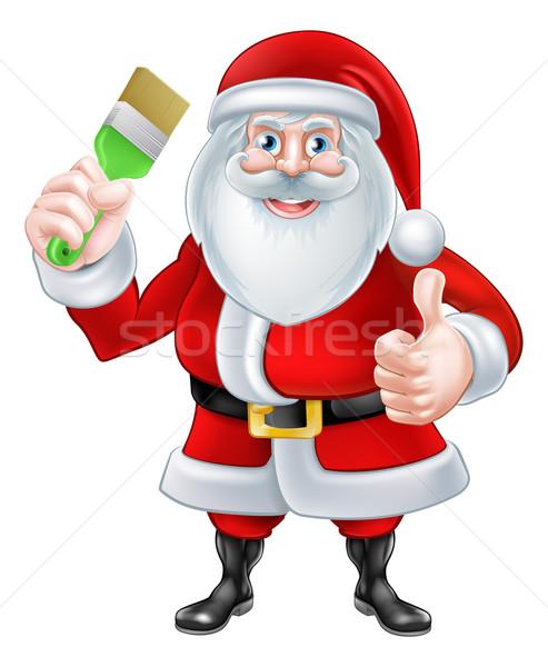 Stockfoto: Christmas · cartoon · illustratie · kerstman