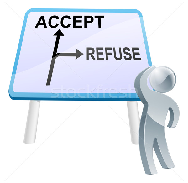 Accept or refuse sign Stock photo © Krisdog