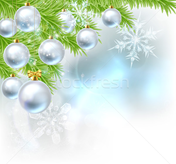 Christmas Tree Baubles Background Stock photo © Krisdog